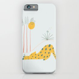 Leopard and Flower iPhone Case