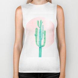 Desert Cactus Green with Rose Gold Sun Biker Tank