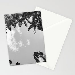Rainforest Canopy - Tropical Sky Black and White Stationery Cards