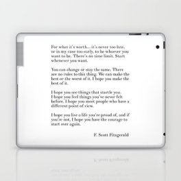 fitzgerald for what it's worth Laptop & iPad Skin