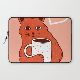 Peach Coffee Kitten Laptop Sleeve