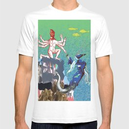 Water Wizard and Monster Man T-shirt