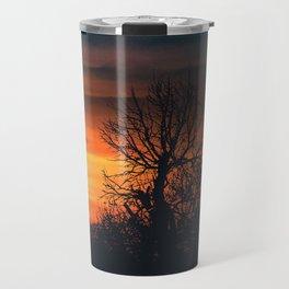 Sunset at Nature Landscape Scene Travel Mug