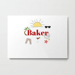Baker : time out on holiday Metal Print