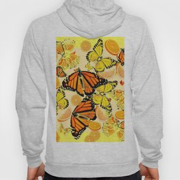 YELLOW MONARCH BUTTERFLY  & ORANGES MARMALADE Hoody