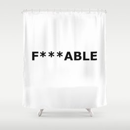 F***able Black Shower Curtain
