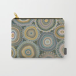 Boho Patchwork-Mineral Colors Carry-All Pouch