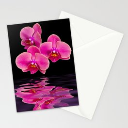 Mystical Pink Orchids Reflections Stationery Cards
