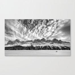 Winter dolomites Canvas Print