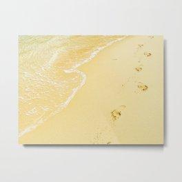Sandy Feet Metal Print