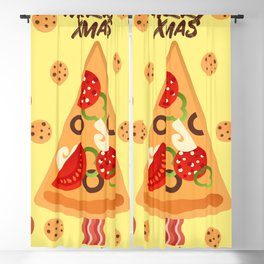 Pizza 4 Xmas Blackout Curtain