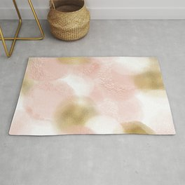 Rose Gold and Gold Blush Rug