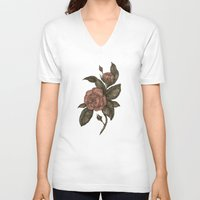 roses V-neck T-shirts featuring Roses by Jessica Roux