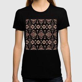 Trendy tribal geometric rose gold pattern T-shirt