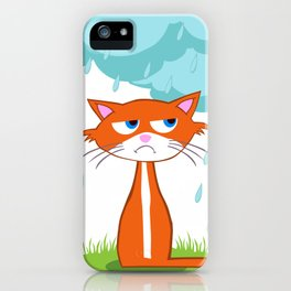 I Hate Mondays When It Rains iPhone Case