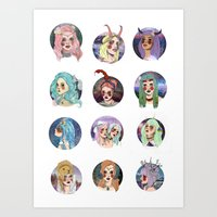 zodiac Art Prints featuring Zodiac by Clementine Petrova