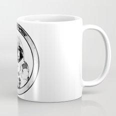 Space Monkeys Black & White Mug