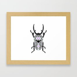 Aztec Beetle Framed Art Print