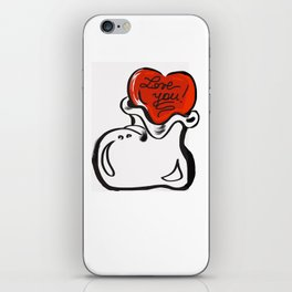 Cuore e stivale iPhone Skin