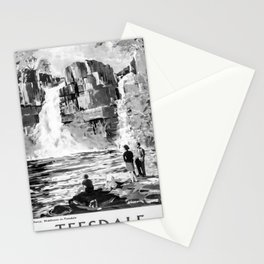 retro monochrome Teesdale retro poster Stationery Cards