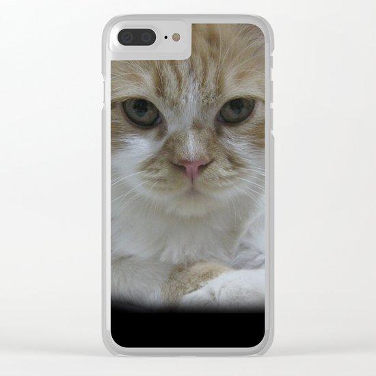 Cute Cat Clear iPhone Case