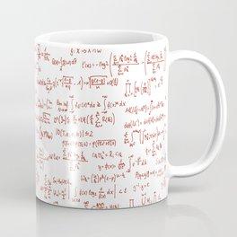 Red Math Equations Coffee Mug