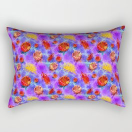 Colourful Australian Native Floral Pattern Rectangular Pillow
