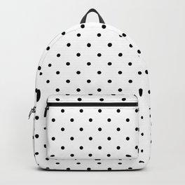 Small Black Polka dots Background Backpack