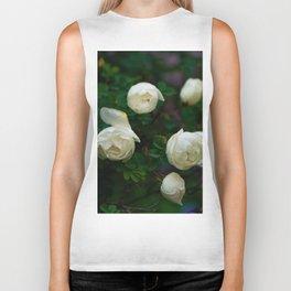 White Rose Bush Biker Tank