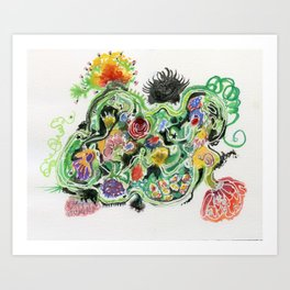 Crowded Floral Art Print