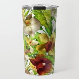 My tropical Orchid Garden- Jungle Pattern Travel Mug