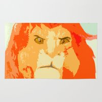 simba Area & Throw Rugs featuring Simba by Makayla Wilkerson
