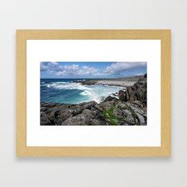 Burren Blue Framed Art Print