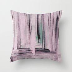 Rose et Vert Throw Pillow