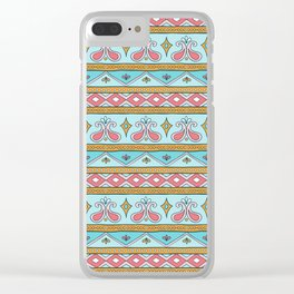 Batik Style 8 Clear iPhone Case