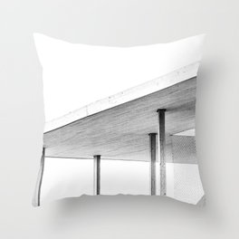 Architectural Study in White Throw Pillow