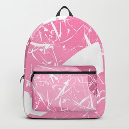 Attractive Scars & Defections Pink White Abstract Art Backpack