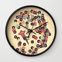 Back to Vinyl Wall Clock