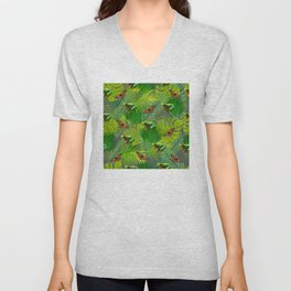 Frogs and Monarchs Unisex V-Neck