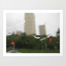 Up Town Rain Art Print