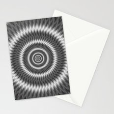Monochrome Rings Stationery Cards