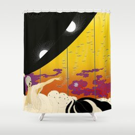 Sophisticated French Art Deco Woman Shower Curtain