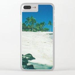 Hawaiian beach on Big Island Clear iPhone Case