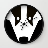 badger Wall Clocks featuring Badger by Christian Bailey