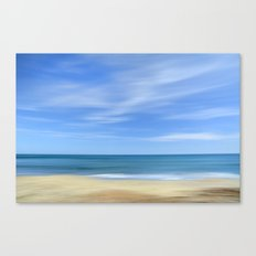 Blue sea...., blue sky. Sea dreams Canvas Print