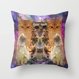 Gustav the Cat in Space Throw Pillow