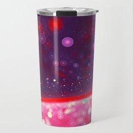 Cowberry Glitter Wave Travel Mug
