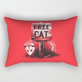 Free cat Rectangular Pillow