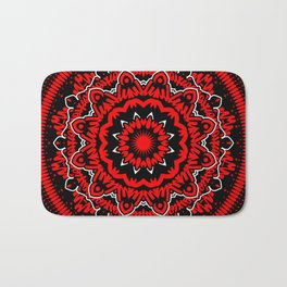 Mandala 009 Red White Black Bath Mat