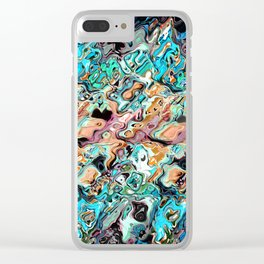 Colorful Distortions Abstract Clear iPhone Case